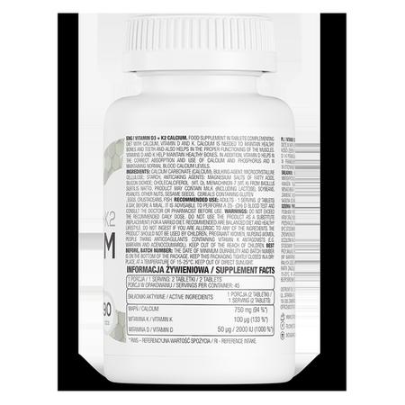 OstroVit Vitamin D3 + K2 + Calcium 90 tabs - 446 € - OstroVit.com