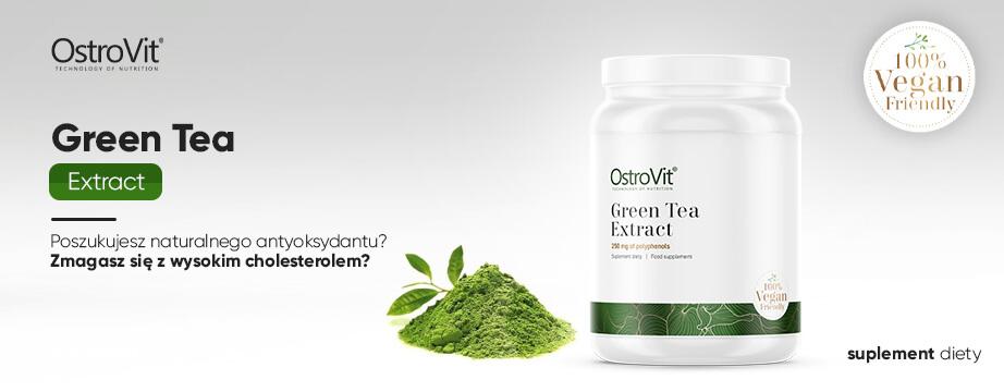 Wegański antyoksydant zalecany osobom w okresie redukcyjnym - ekstrakt z zielonej herbaty