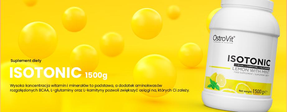 Zadbaj o nawodnienie organizmu, dzięki bogatemu w witaminy, oraz elektrolity OstroVit Isotonic. Produkt posiada także dodatek BCAA, L-Glutaminy, czy L-Karnityny. Cechuje go szybka wchłanialność, oraz wysoka biodostępność. Łatwy do przygotowania; zwiększy wydolność i energię