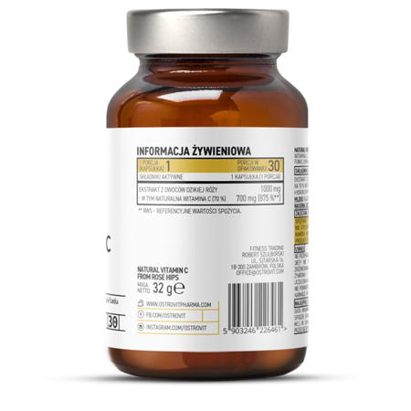 OstroVit Pharma Natural Vitamin C from Rose Hips 30 caps
